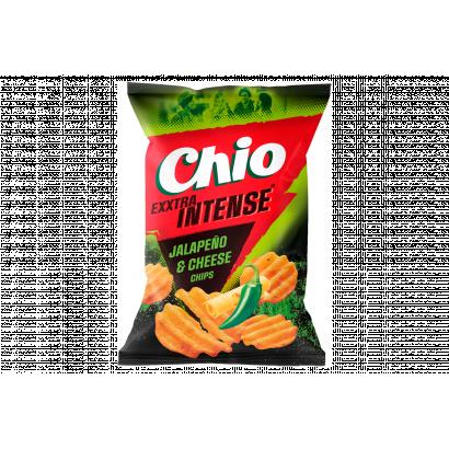 Chio Exxtra Intense sajt és jalapeno chili ízű csípős burgonyachips 65 g