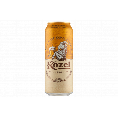 Velkopopovický Kozel Premium Lager minőségi világos sör 4,6% 0,5 l