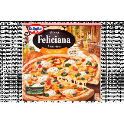 Dr. Oetker Feliciana gyorsfagyasztott pizza sült csirkecombbal és ricotta sajttal 335 g
