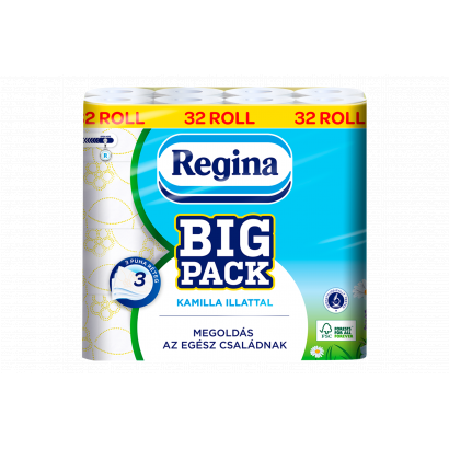 Regina Big Pack Kamilla toalettpapír 3 rétegű 32 tekercs