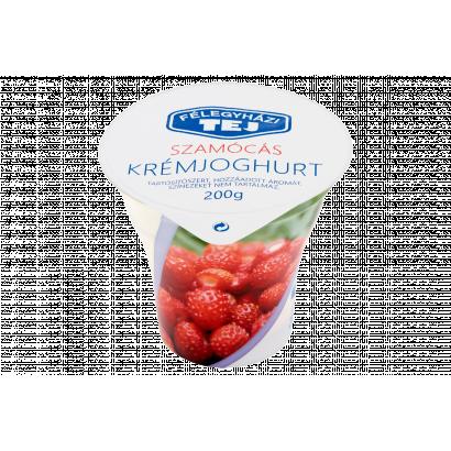 Félegyházi Tej szamócás krémjoghurt 200 g