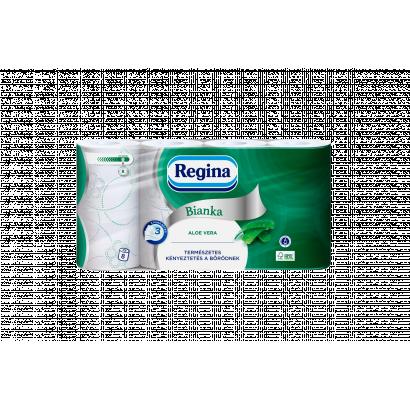 Regina Bianka Aloe toalettpapír 3 rétegű 8 tekercs