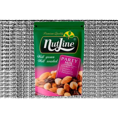NutLine Party Mix pörkölt, sózott magvak és mazsola keveréke 150 g