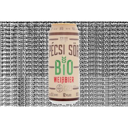 Pécsi Sör BIO prémium szűretlen világos bio búzasör 5% 0,5 l