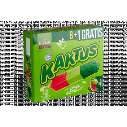 Kaktus görögdinnyés és almás szorbé zöld bevonattal 9 db 405 ml