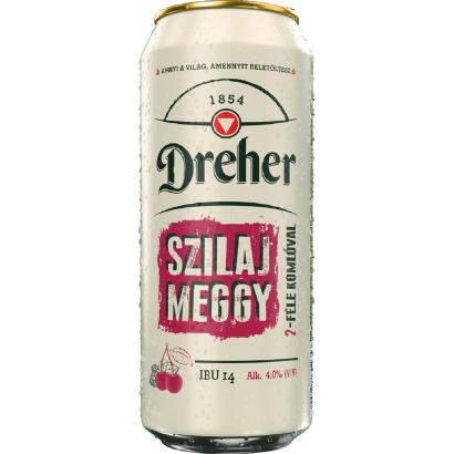 Dreher Szilaj Meggy világos sör és meggy ízű ital keveréke 4% 0,5 l
