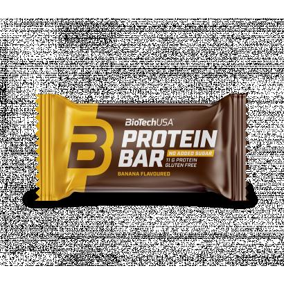 BioTechUSA Protein Bar banán ízű bevont fehérjeszelet édesítőszerekkel 35 g