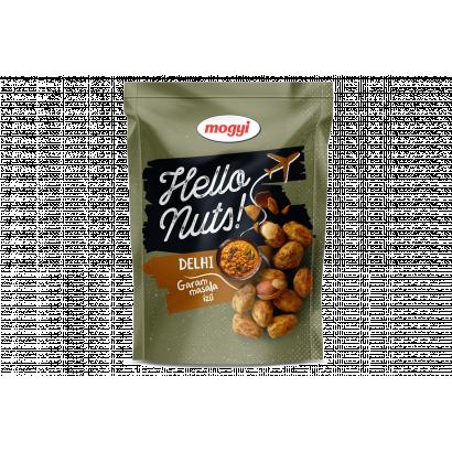 Mogyi Hello Nuts! Delhi garam masala ízű, csicseriborsós tésztabundában pörkölt földimogyoró 100 g