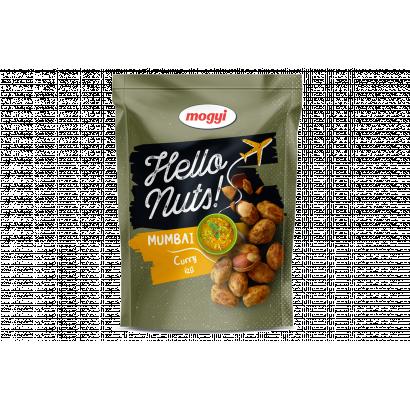 Mogyi Hello Nuts! Mumbai zöld curry ízű, csicseriborsós tésztabundában pörkölt földimogyoró 100 g