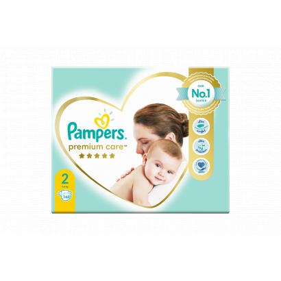 Pampers Premium Care Pelenka, 2 Méret, 148 db, 4kg-8kg