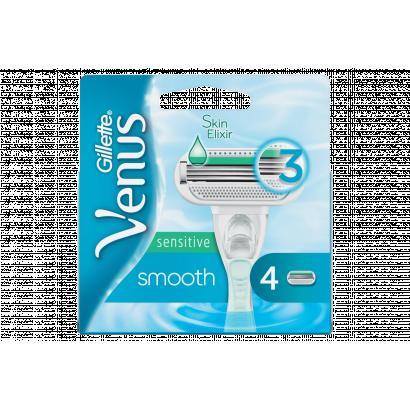 Gillette Venus Smooth Sensitive Pótfej, 4 db