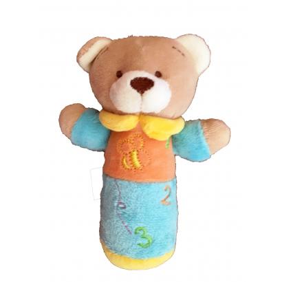 Babybruin sípoló marokfigura plüss maci 13 cm