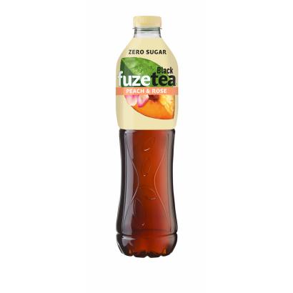 FUZETEA Zero energiamentes őszibarack- és rózsaízű üdítőital édesítőszerekkel 1,5 l