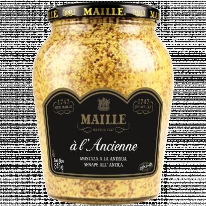 Maille egészmagos mustár fehérborral 845 g