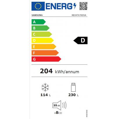 Samsung RB34T670DSA/EF alulfagyasztós hűtőszekrény