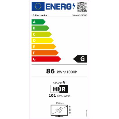 LG 50NANO793NE.AEU 4K UHD Smart LED televízió