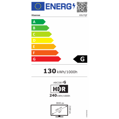 """Hisense 65U7QF 65"""" 4K UHD Smart Quantum Dot ULED TV"""