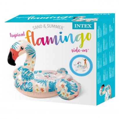 Intex Felfújható flamingó matrac 142x137x97 cm