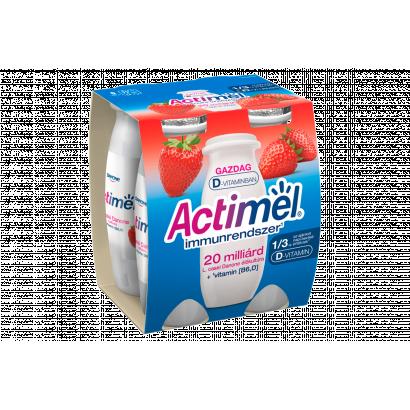 Danone Actimel zsírszegény, élőflórás, eperízű joghurtital 4 x 100 g (400 g)