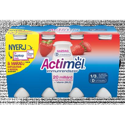 Danone Actimel zsírszegény, élőflórás, eperízű joghurtital B6- és D-vitaminnal 8 x 100 g (800 g)