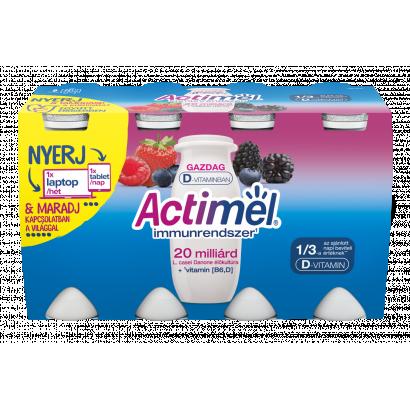 Danone Actimel zsírszegény, élőflórás, erdei gyümölcsízű joghurtital 8 x 100 g (800 g)