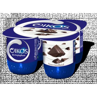 Danone Oikos Görög stracciatellaízű élőflórás krémjoghurt 4 x 125 g (500 g)