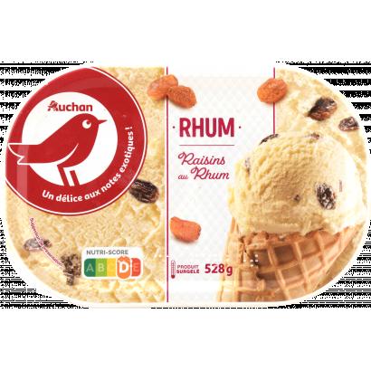 Auchan Nívó jégkrém vanília-mazsola 528 G