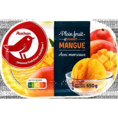 Auchan Nívó mangó sorbet 650 G