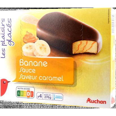 Auchan Nívó  banán-karamell x4 280G