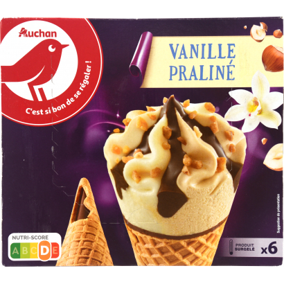 Auchan Nívó vanília-mogyoró x6 416,4 G