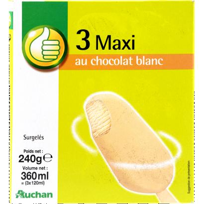 Auchan Optimum vanília-fehér csoki x3 240G