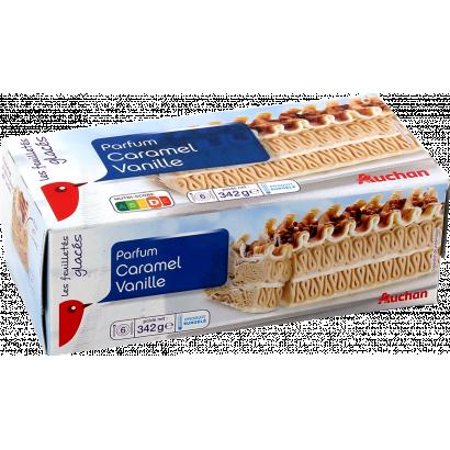 Auchan Nívó Karamell és vanília jégkrém, karamell ízesítésű tésztával 340 g