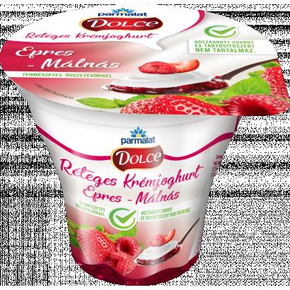 Parmalat Dolce epres-málnás réteges krémjoghurt 180 g