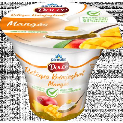 Parmalat Dolce mangós réteges krémjoghurt 180 g