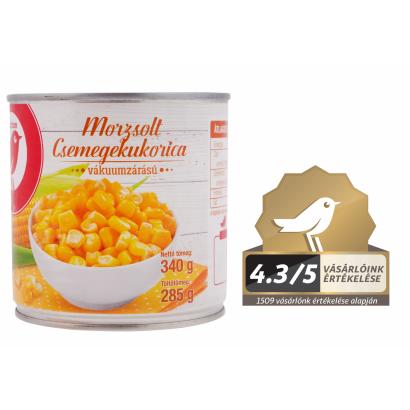 Auchan Nívó Csemegekukorica morzsolt 340 g/ 285 g
