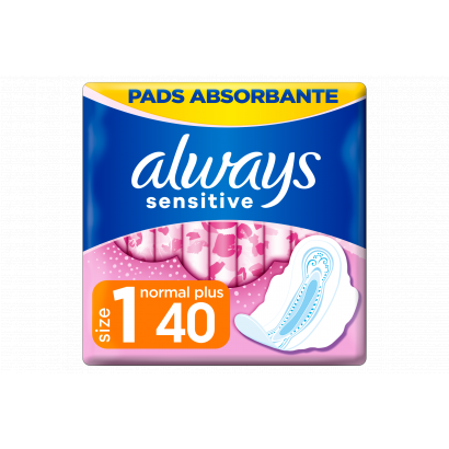Always Ultra Sensitive Normal Plus Egészségügyi Betét (1-es Méret), 40 db