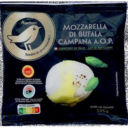 Auchan Prémium Gourmet Mozzarella Bufala sajt OEM 125 g