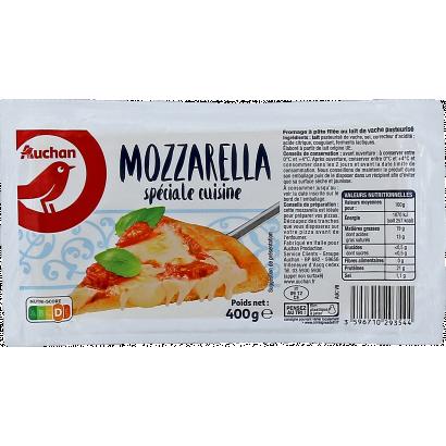 Auchan Nívó Mozzarella Speciale Cuisine sajt 400 g
